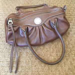 Marc by Marc Jacobs Brown Leather Bowler Purse Bag